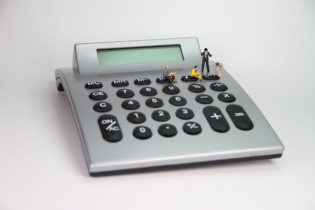 Calculator, Number, Miniature Figures, Company
