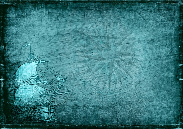 Sailing Vessel, Compass, Steampunk, Drawing, Nostalgia