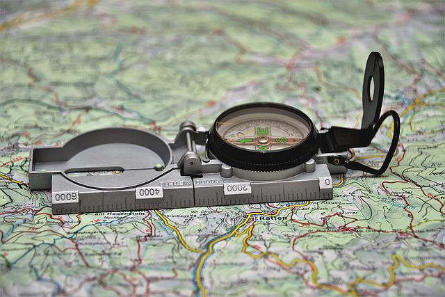 Compass, Hiking, Outdoor, Travel