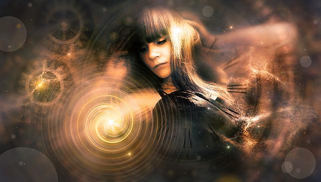 Fantasy, Girl, Light, Mysticism, Composing, Surreal