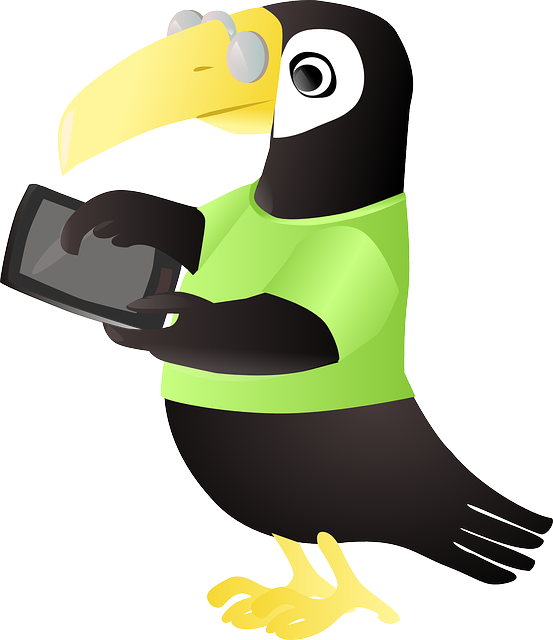 Tuki, Toucan, Tablette, Animal, Tablet, Geek, Computer