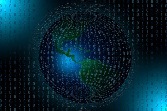 Binary, Code, Globe, America, Continents, Computer