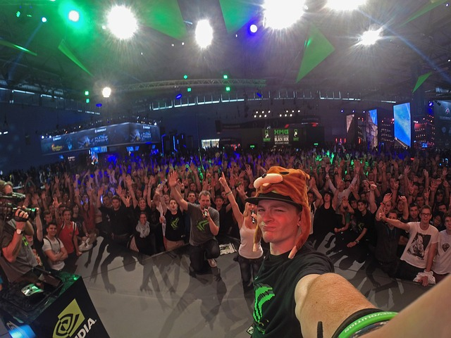 Selfie, Man, Person, Gopro, Gamescom, Nvidia, Concert