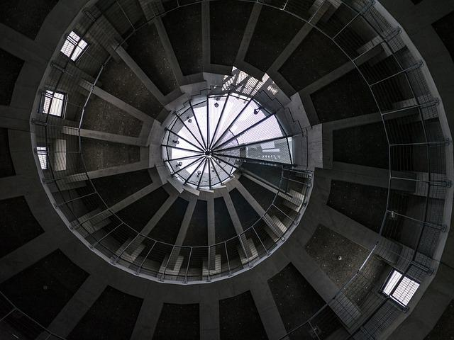 Building, Japan, Concrete, Vortex