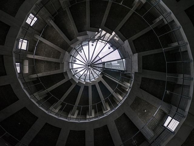 Building, Japan, Concrete, Vortex