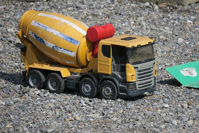 Concrete Mixer, Toys, Transport System, Vehicle