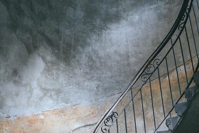 Concrete, Staircase, Stairs, Stairway, Wall