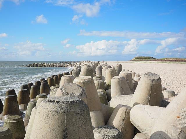 The Beach Fixing, Tetrapods, Concrete, Hard