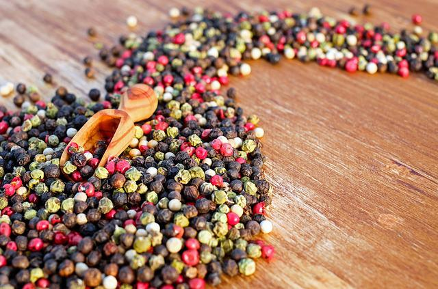 Peppercorns, Seasoning, Spices, Condiment, Flavoring