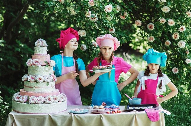 Cooks, Confectioner, Children's, Sweets, Cake, Baking