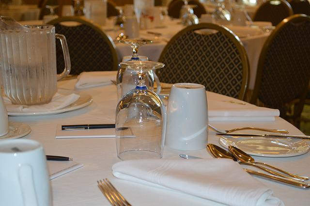 Table, Table Setting, Conference, Meeting