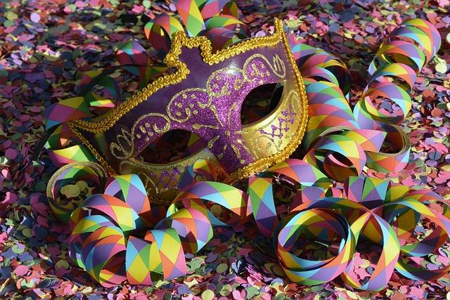 Mask, Confetti, Carnival, Colorful, Carneval