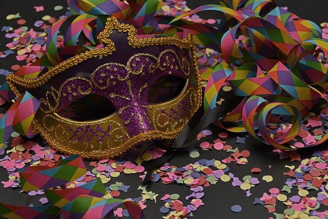 Mask, Carnival, Confetti, Streamer, Colorful, Venice