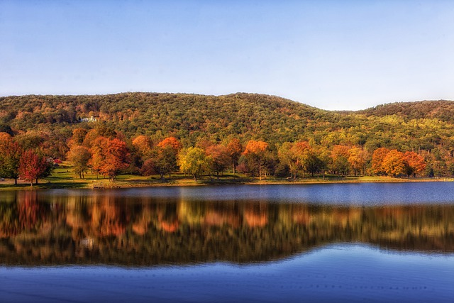 Squantz Pond, Connecticut, Landscape, Scenic, Fall