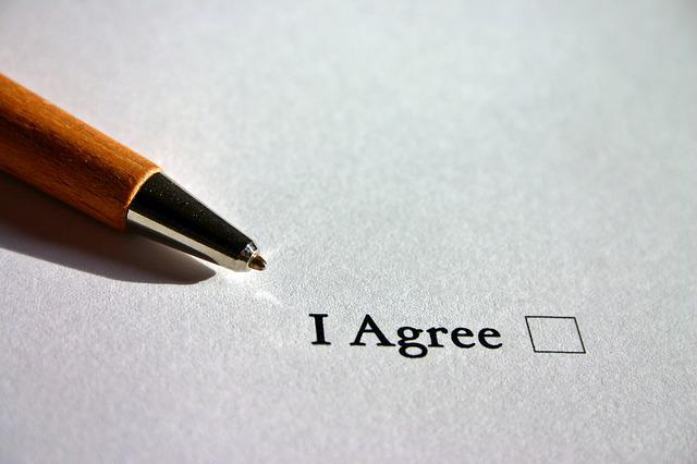 Agree, English, Consent, Contract, Agreement, Cross