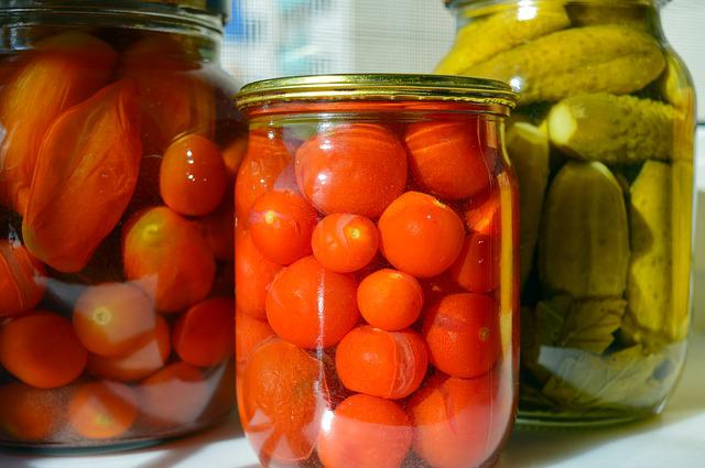 Conservation, Harvest, Marinated, Canned Tomatoes