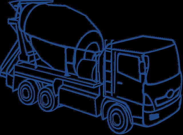 Concrete Mixer, Mixer, Car, Concrete, Construction