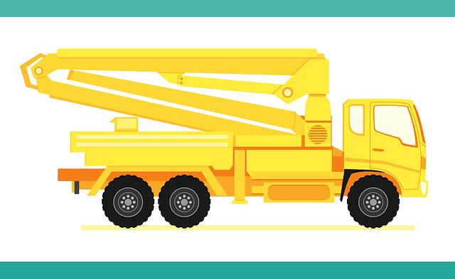 Truck, Concrete Pump Truck, Heavy, Construction