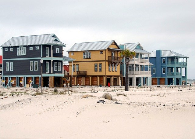 Beach Homes, Construction, Industry, Florida, Usa