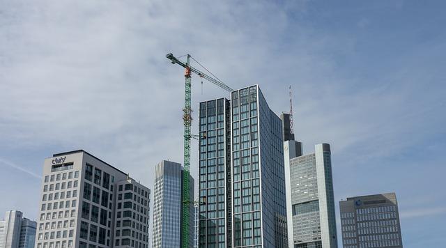 City, Skyscraper, Construction, Frankfurt