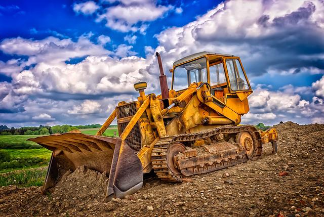 Construction Machine, Caterpillar, Tracked Vehicle