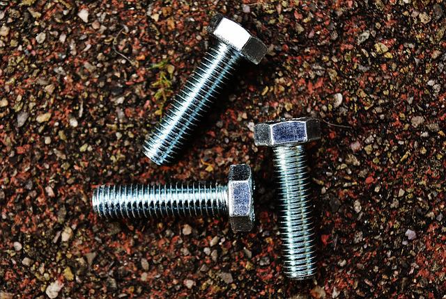 Screw, Hex Bolt, Construction Material, Silver