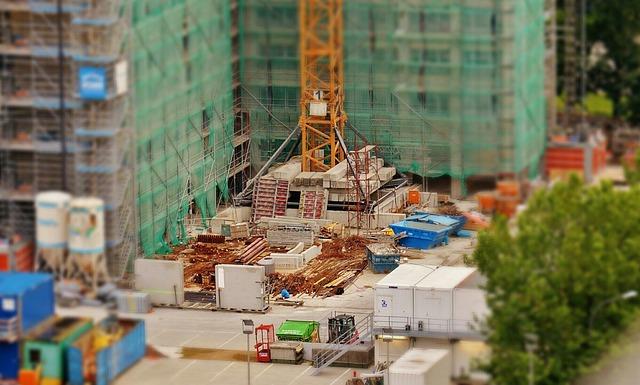 Skyscraper, Site, Construction, Building