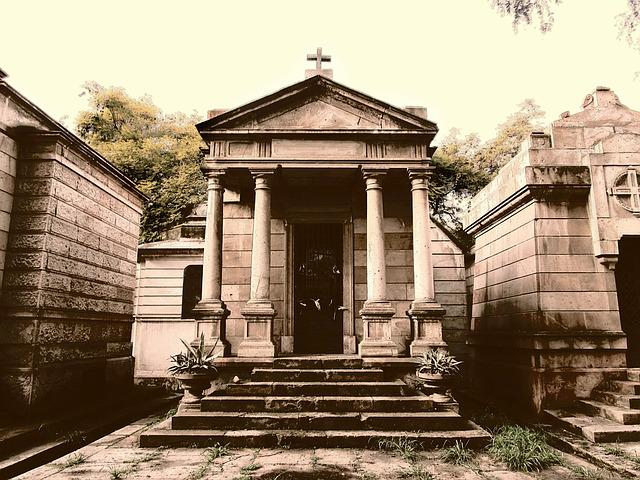 Tomb, Tombstone, Cemetery, Sepia, Old, Construction