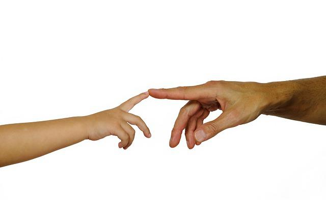 Hands, Child's Hand, Man Hand, Finger, Contact