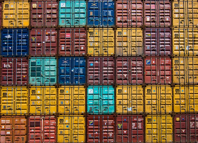 Colorful, Container, Van, Cargo, Wharf