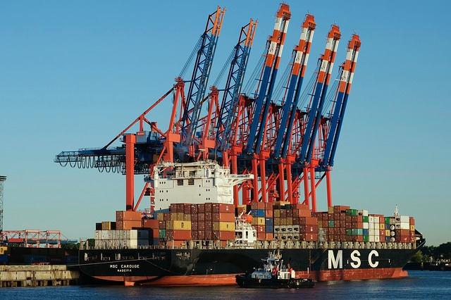 Shipping, Container Ship, Msc Carouge, Frachtschiff