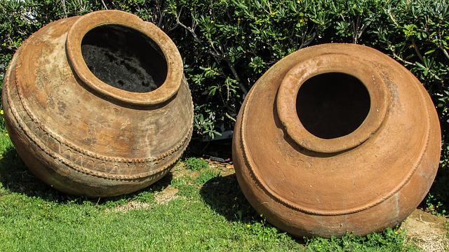 Clay Jars, Containers, Ceramic, Traditional, Decoration