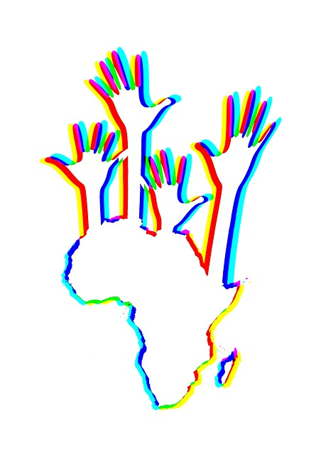 Africa, Continent, Hands, Stretch Out, Help