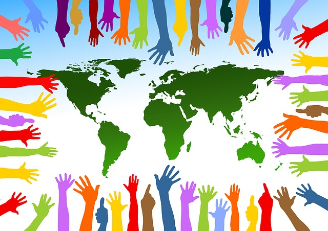 Community, Friends, Globe, Continents, Hands, Together