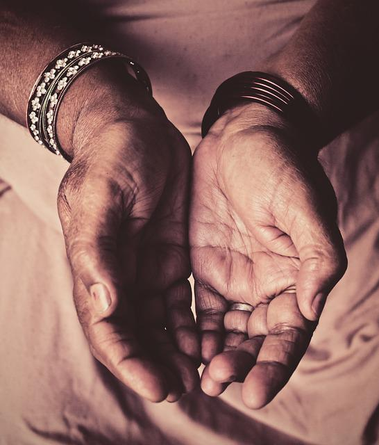 Bangles, Contrast, Hands, India, Old, Warm