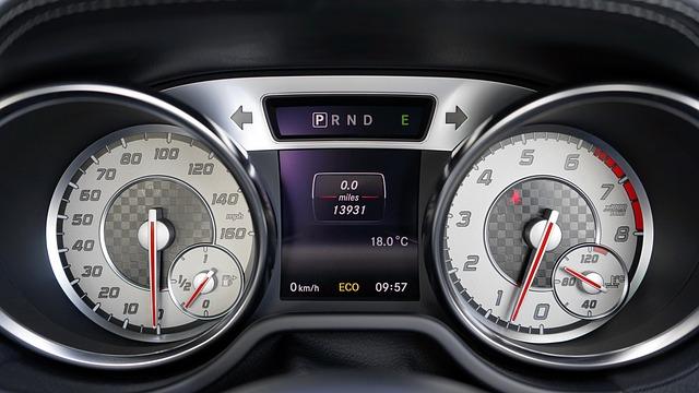 Car, Interior, Speedometer, Dashboard, Control