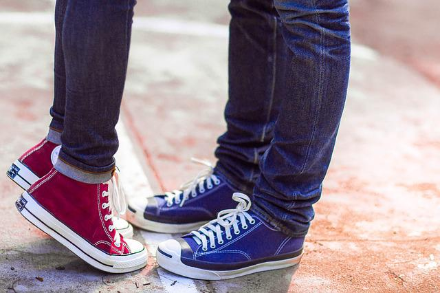 Converse, Couple, Love, Lover, Sneaker