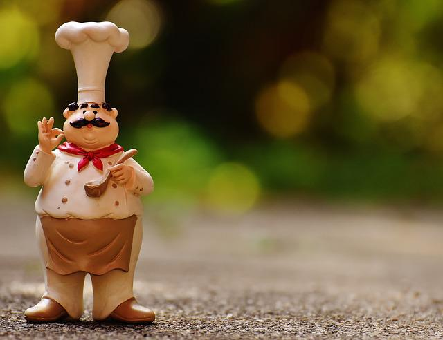 Chefs, Figures, Funny, Cook, Gastronomy, Restaurant