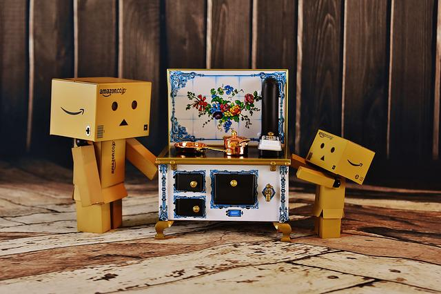 Stove, Cook, Child, Help, Curious, Danbo, Fig, Funny