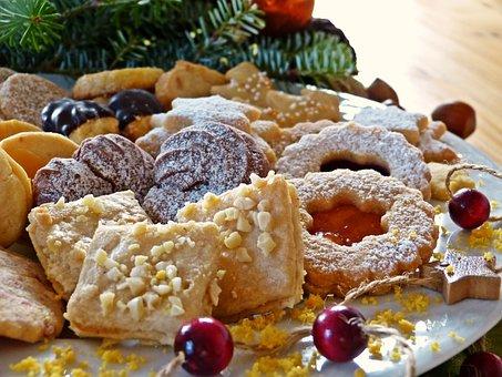 Christmas Cookies, Cookie Plate, Advent, Cookie, Bake