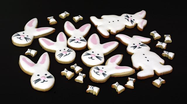 Cookies, Cookie, Easter Bunny, Small Cakes, Pastries