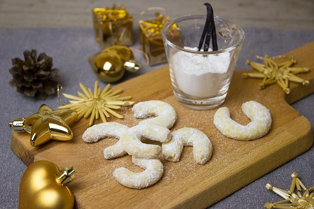 Cookies, Vanillekipferl, Christmas, Cookie
