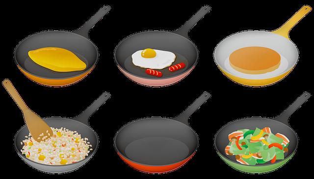 Frying Pan, Cooking, Eggs, Omelet, Pancake, Kitchen
