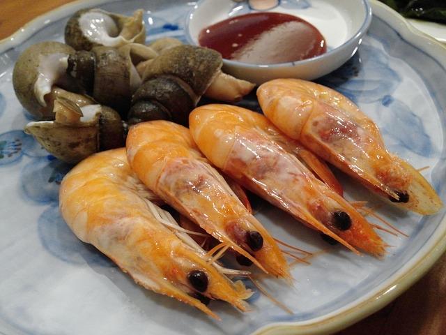 Shrimp, Seafood, Cooking, Food, Steamed Shrimp, Eat
