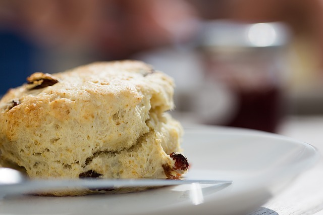 Summer, Cooking, Baking, Homemade, Currants, Scone