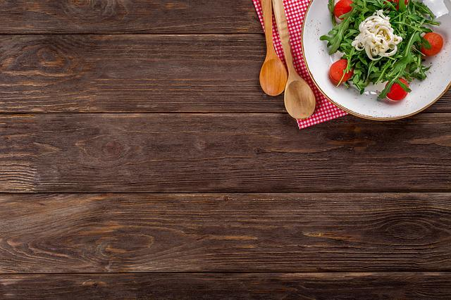 Food, Salad, Italian, Tasty, Wooden Background, Cooking