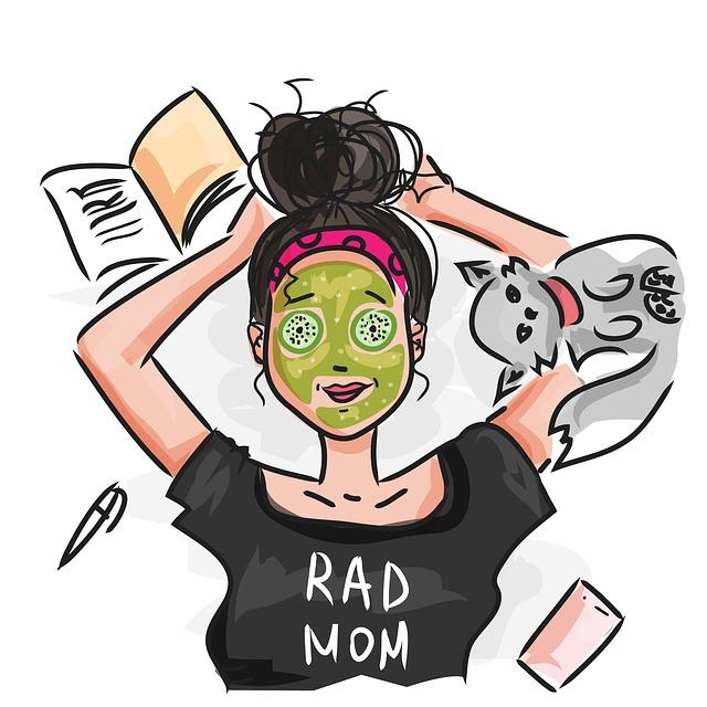 Mom, Vacation, Woman, Cool, Modern, Super Mom, Lying