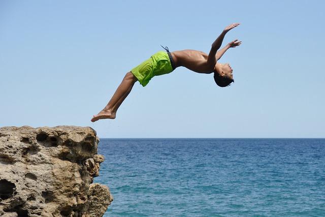 Diving, Tough, Boy, Swimming, Male, Teen, Cool, Sea