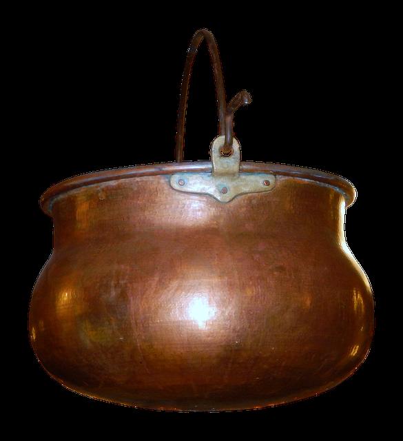 Boiler, Copper Boiler, Copper, Shiny, Cook, Fire, Png