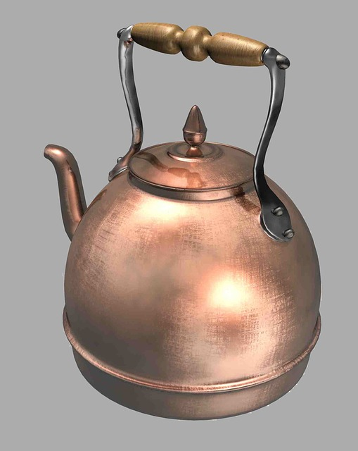 Kettle, Copper, Kitchen, Water, Shiny, Gray Water